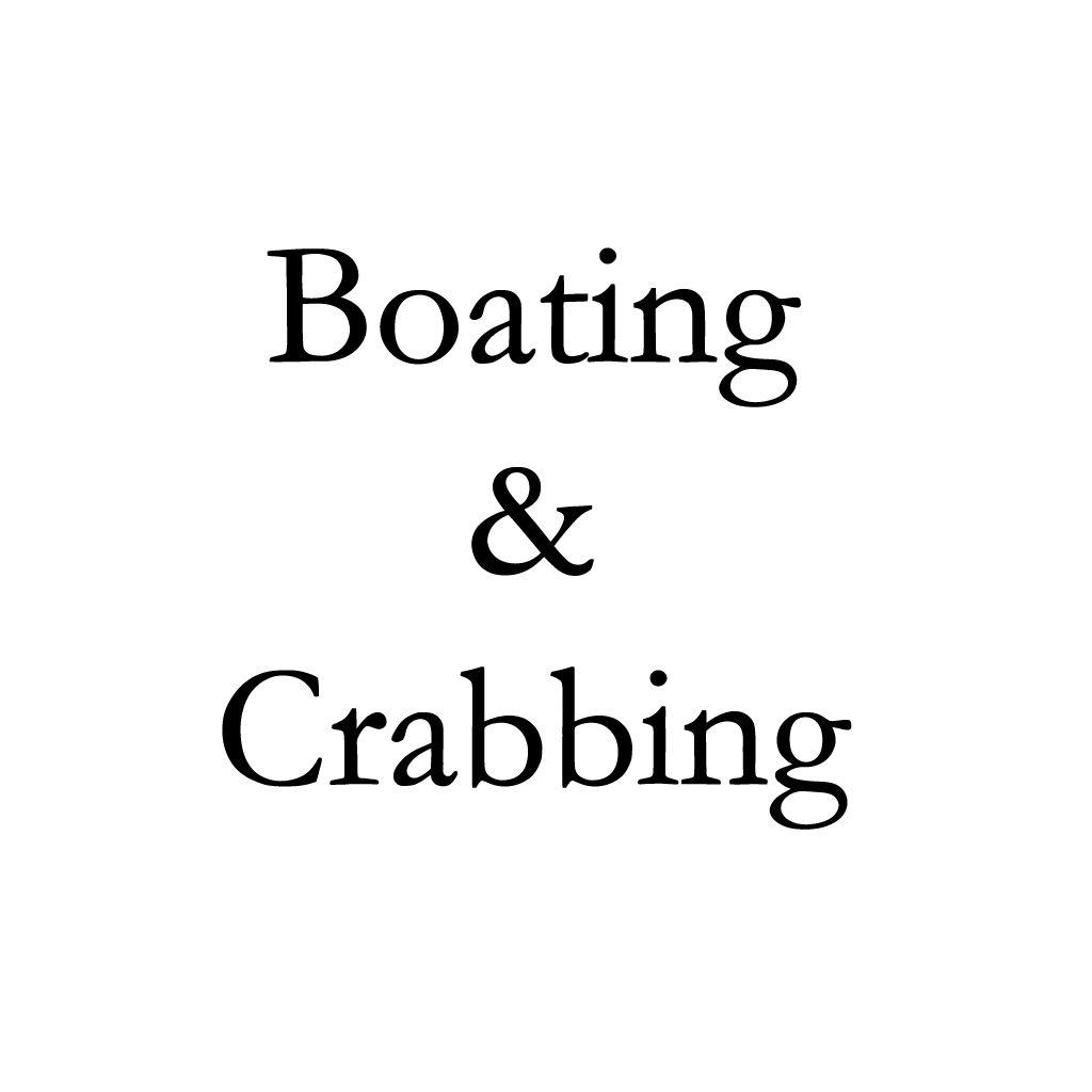 Boating and crabbing