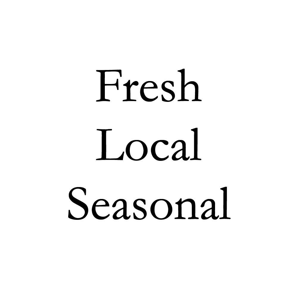 Fresh local seasonal